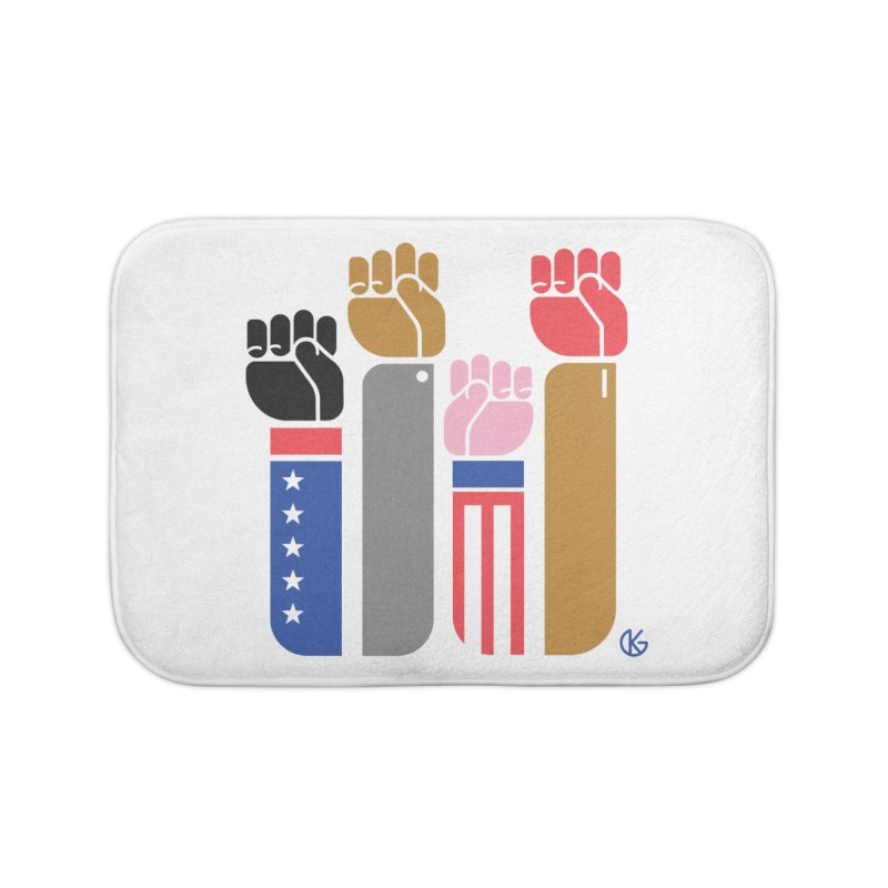 United We Stand Home Bath Mat by Kevin's Pop Shop