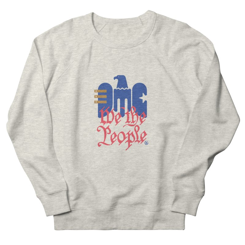 We The People Men's French Terry Sweatshirt by Kevin's Pop Shop
