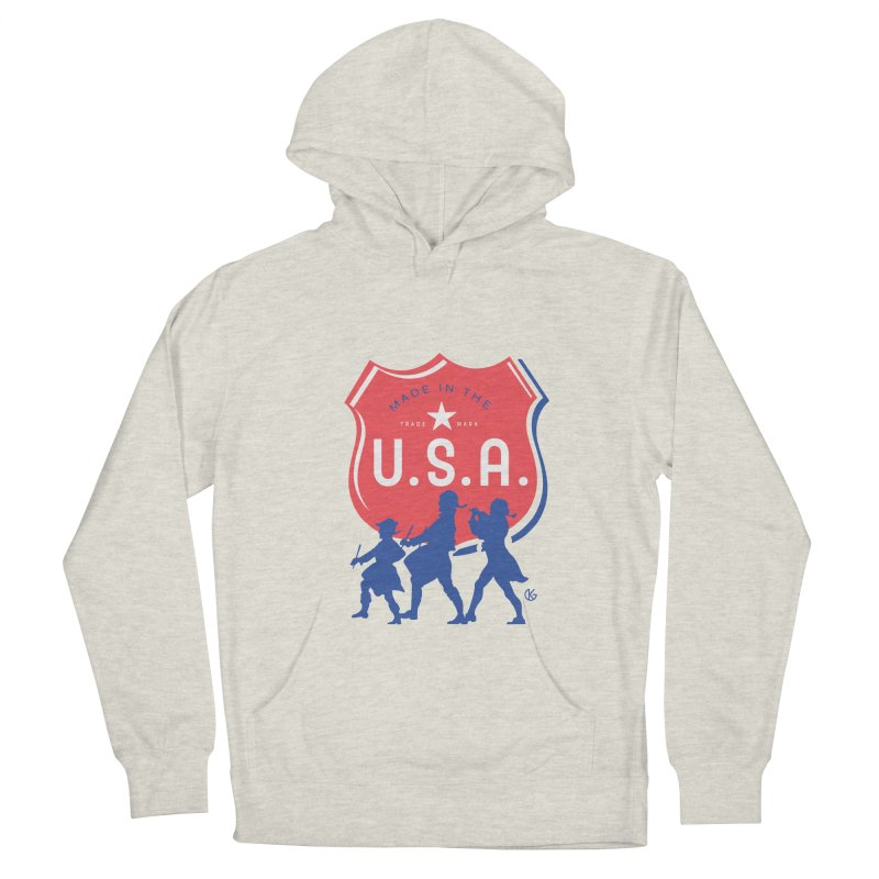 Made In The U.S.A. Men's French Terry Pullover Hoody by Kevin's Pop Shop