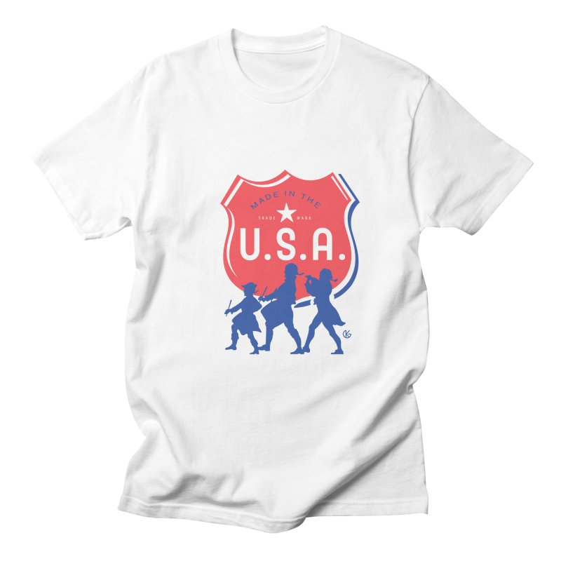 Made In The U.S.A. Men's Regular T-Shirt by Kevin's Pop Shop