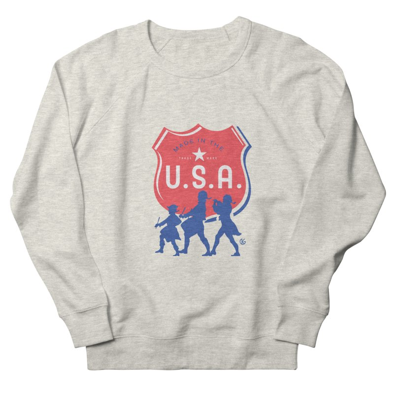 Made In The U.S.A. Men's French Terry Sweatshirt by Kevin's Pop Shop
