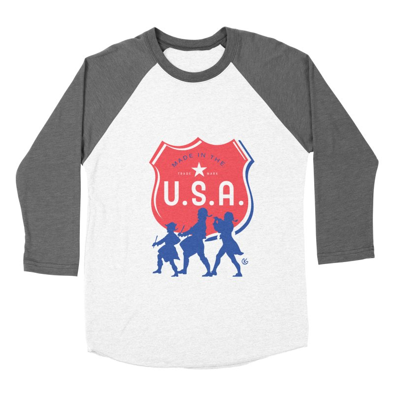 Made In The U.S.A. Men's Baseball Triblend Longsleeve T-Shirt by Kevin's Pop Shop