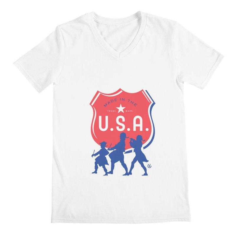 Made In The U.S.A. Men's Regular V-Neck by Kevin's Pop Shop