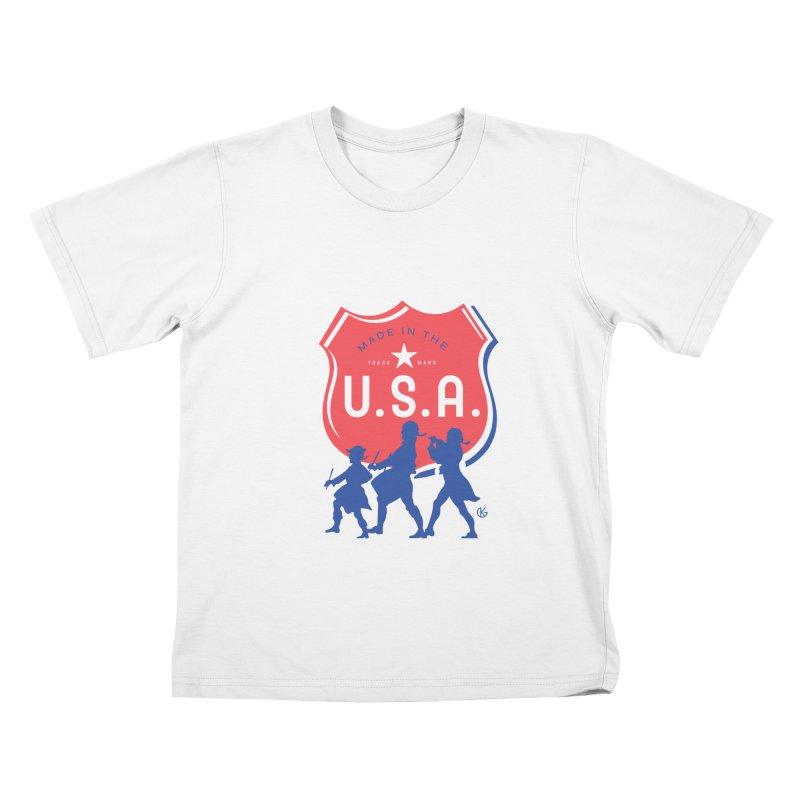 Made In The U.S.A. Kids T-Shirt by Kevin's Pop Shop