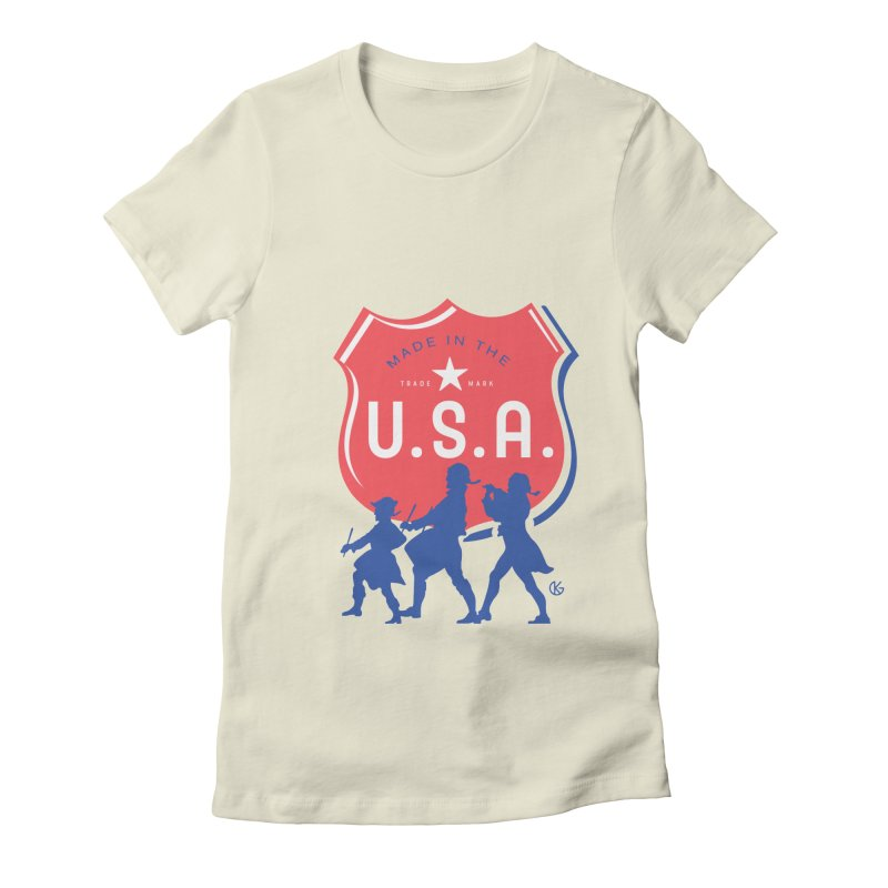 Made In The U.S.A. Women's Fitted T-Shirt by Kevin's Pop Shop