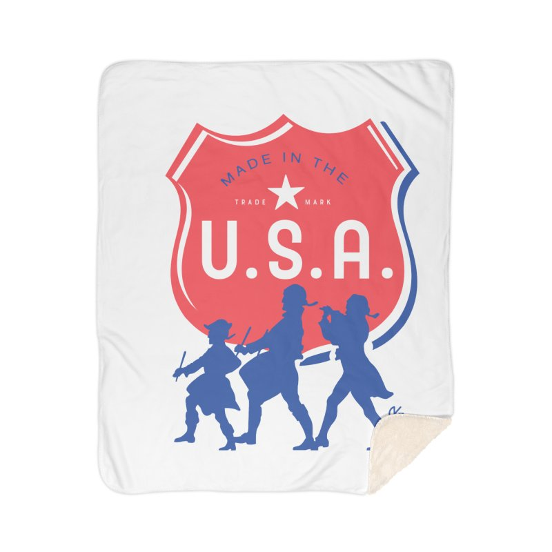Made In The U.S.A. Home Sherpa Blanket Blanket by Kevin's Pop Shop