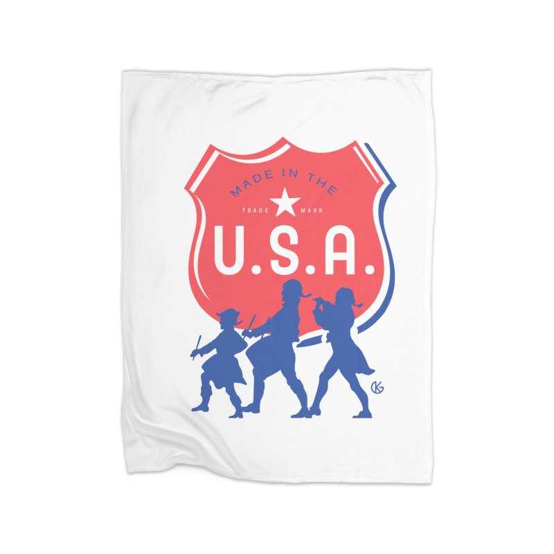 Made In The U.S.A. Home Fleece Blanket Blanket by Kevin's Pop Shop