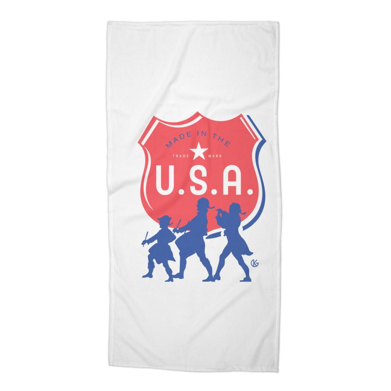 Made In The U.S.A. Accessories Beach Towel by Kevin's Pop Shop