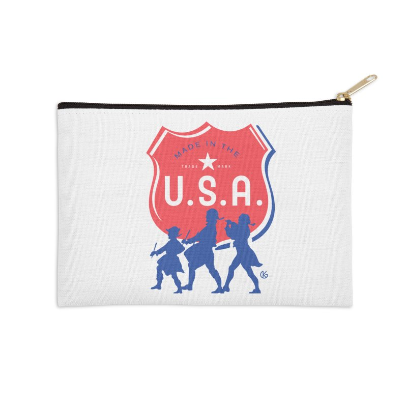 Made In The U.S.A. Accessories Zip Pouch by Kevin's Pop Shop