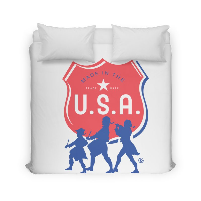 Made In The U.S.A. Home Duvet by Kevin's Pop Shop