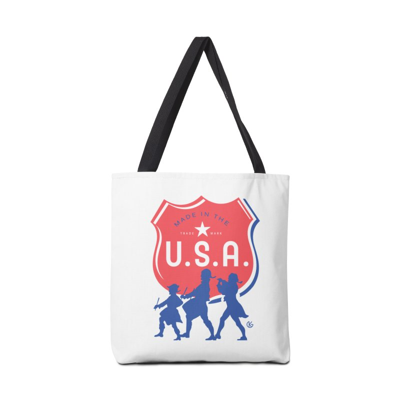 Made In The U.S.A. Accessories Tote Bag Bag by Kevin's Pop Shop