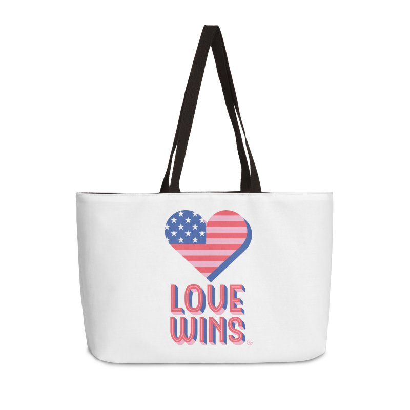 Love Wins Accessories Weekender Bag Bag by Kevin's Pop Shop