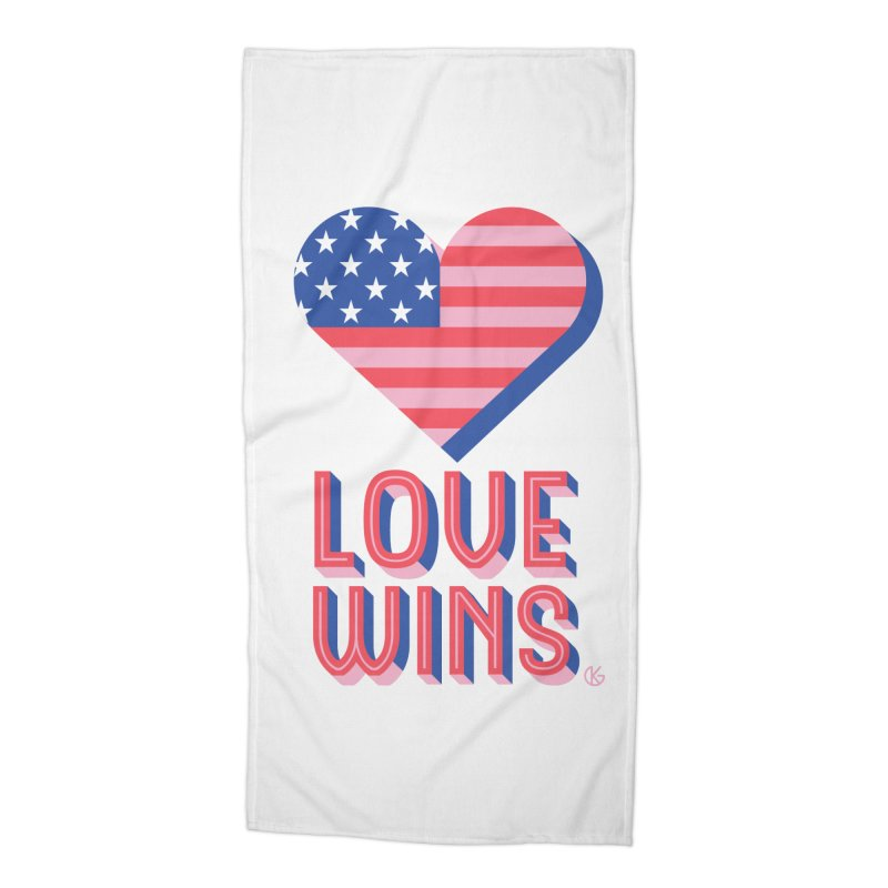 Love Wins Accessories Beach Towel by Kevin's Pop Shop