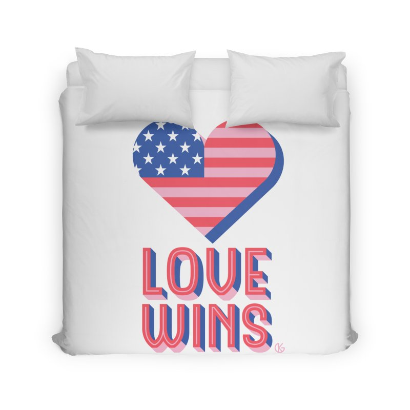 Love Wins Home Duvet by Kevin's Pop Shop