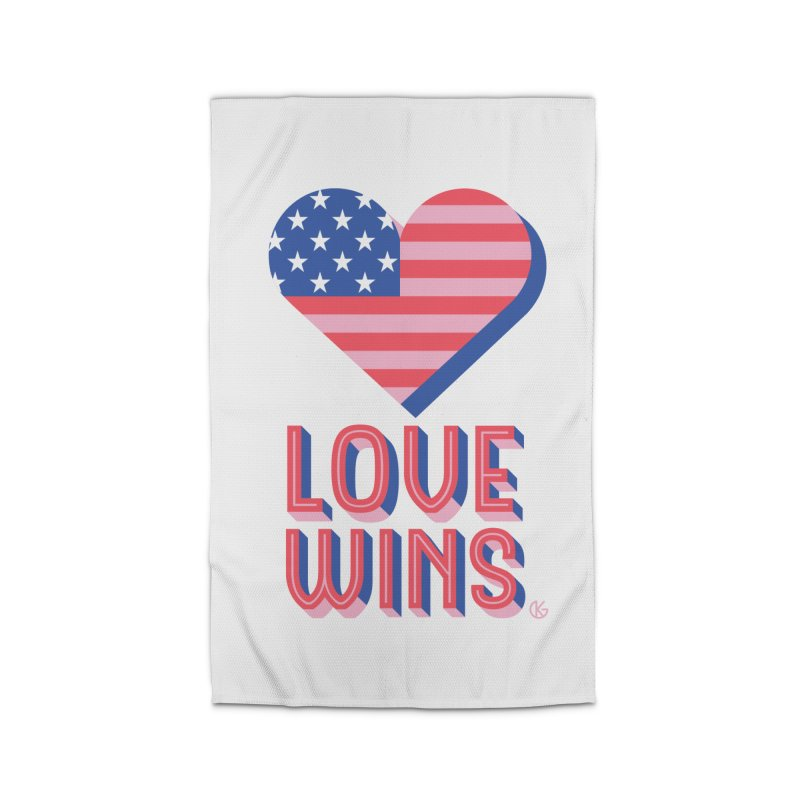 Love Wins Home Rug by Kevin's Pop Shop
