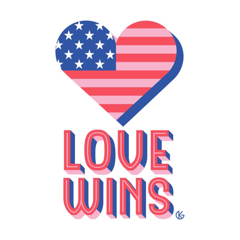 Love Wins Home Blanket by Kevin's Pop Shop