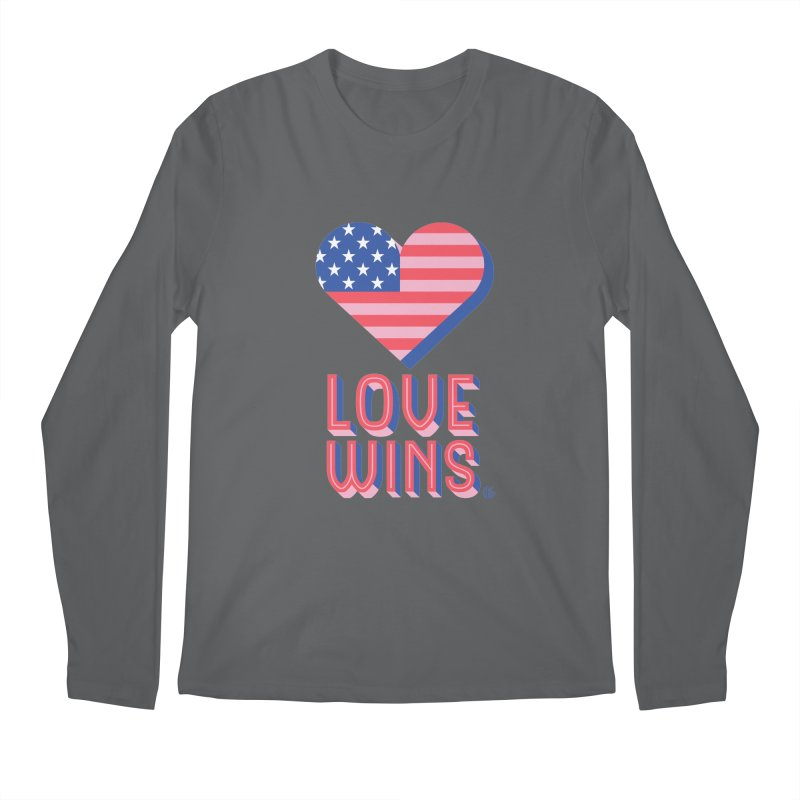 Love Wins Men's Regular Longsleeve T-Shirt by Kevin's Pop Shop