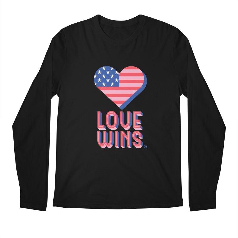 Love Wins Men's Regular Longsleeve T-Shirt by Kevin's Pop Shop
