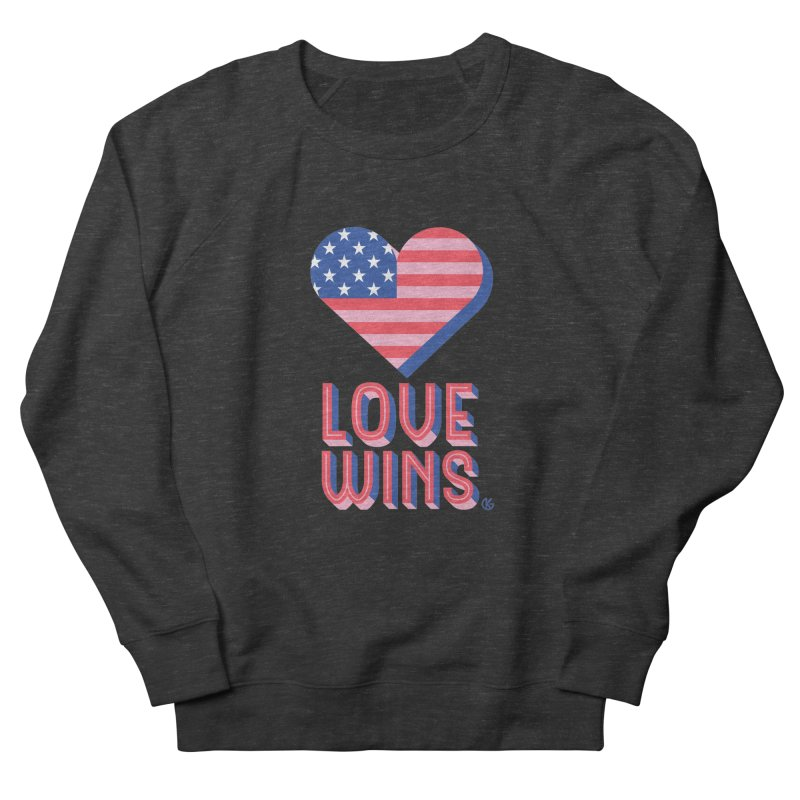 Love Wins Men's French Terry Sweatshirt by Kevin's Pop Shop