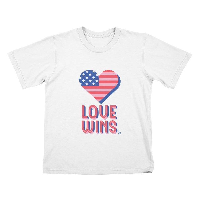 Love Wins Kids T-Shirt by Kevin's Pop Shop