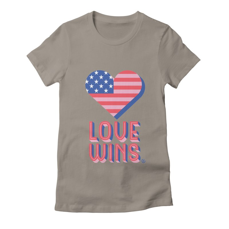 Love Wins Women's Fitted T-Shirt by Kevin's Pop Shop