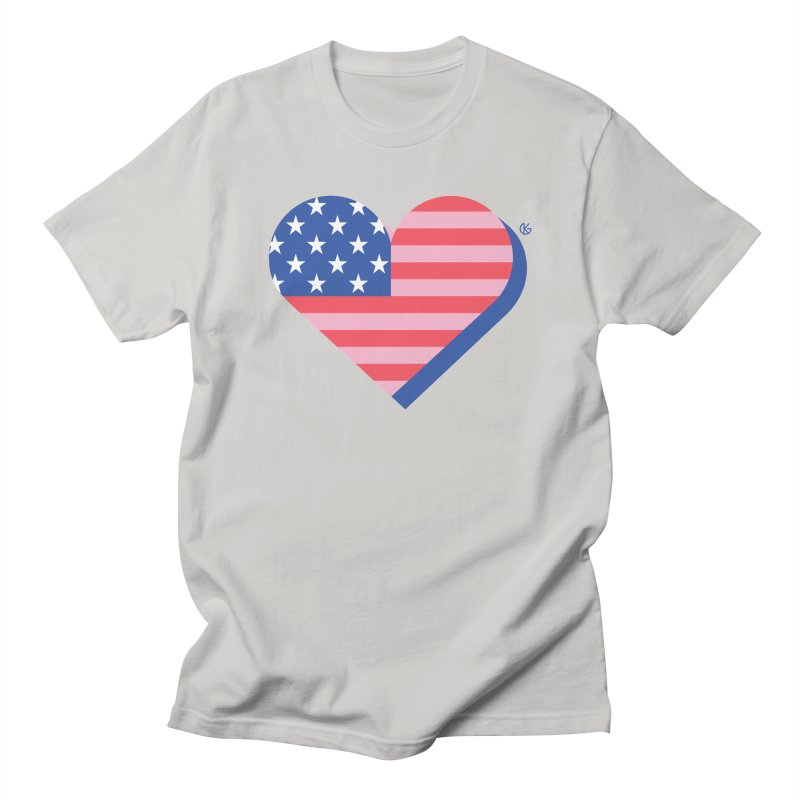Flag Heart Men's T-Shirt by Kevin's Pop Shop