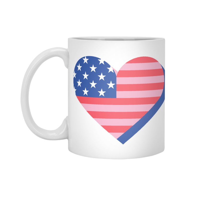 Flag Heart Accessories Standard Mug by Kevin's Pop Shop