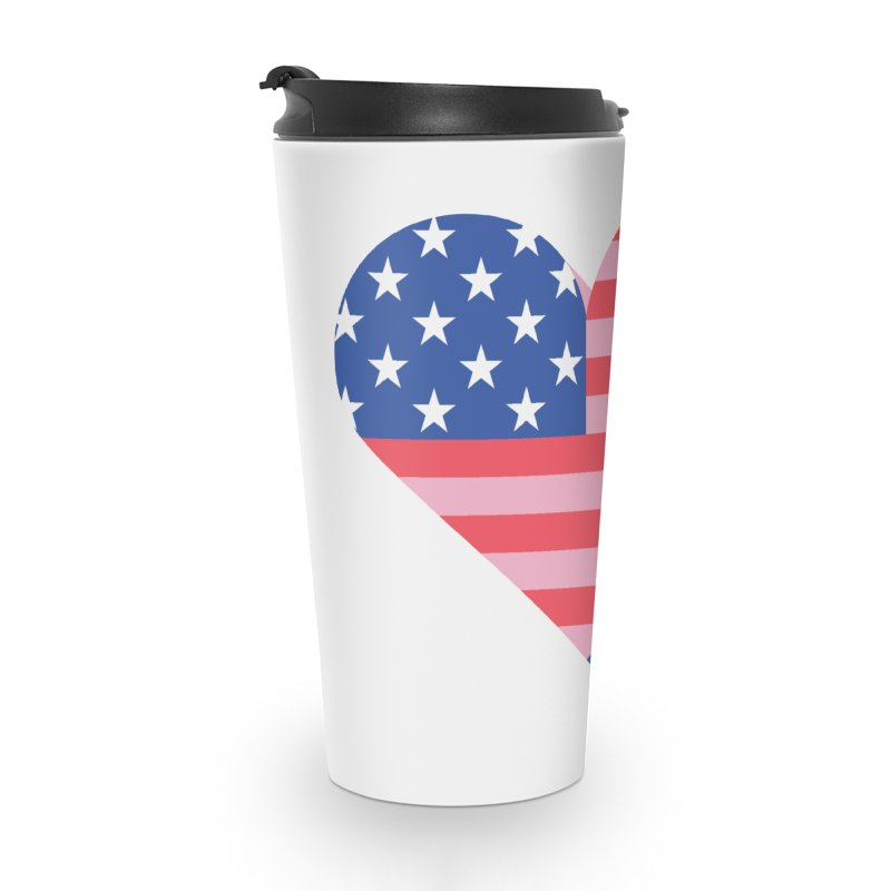 Flag Heart Accessories Mug by Kevin's Pop Shop