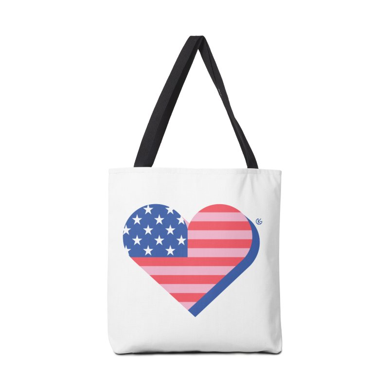 Flag Heart Accessories Tote Bag Bag by Kevin's Pop Shop