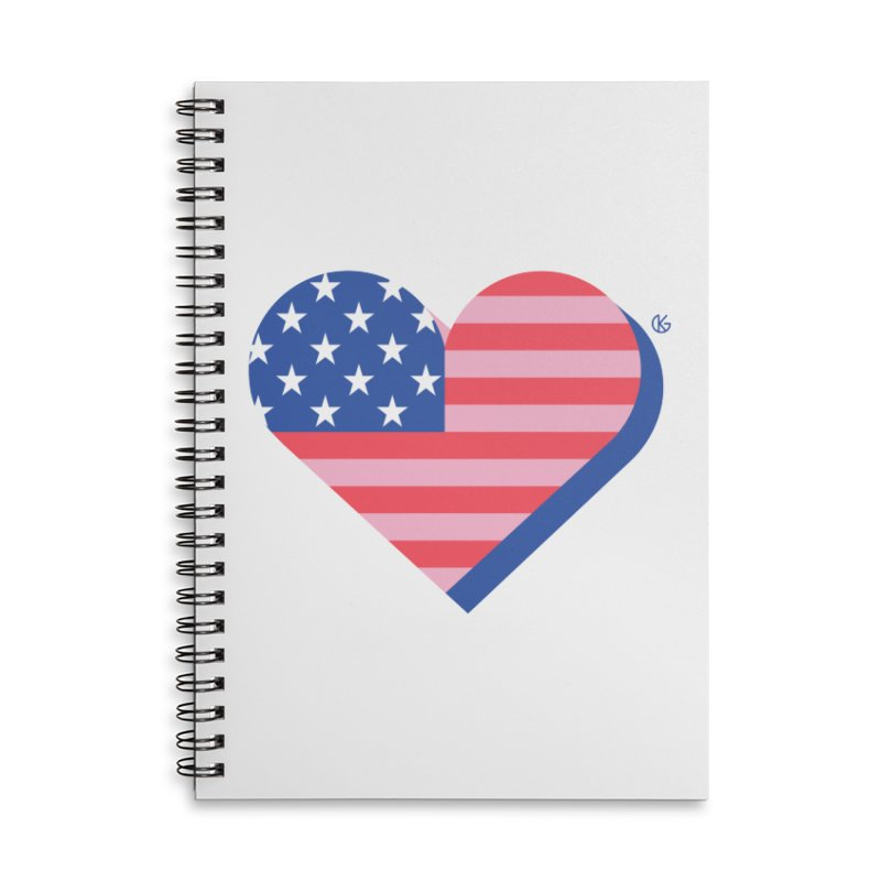 Flag Heart Accessories Notebook by Kevin's Pop Shop
