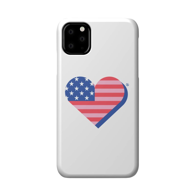 Flag Heart Accessories Phone Case by Kevin's Pop Shop
