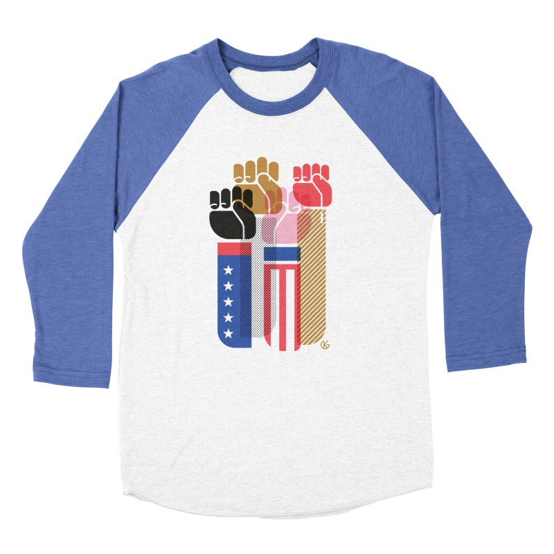 United We Stand Men's Baseball Triblend Longsleeve T-Shirt by Kevin's Pop Shop