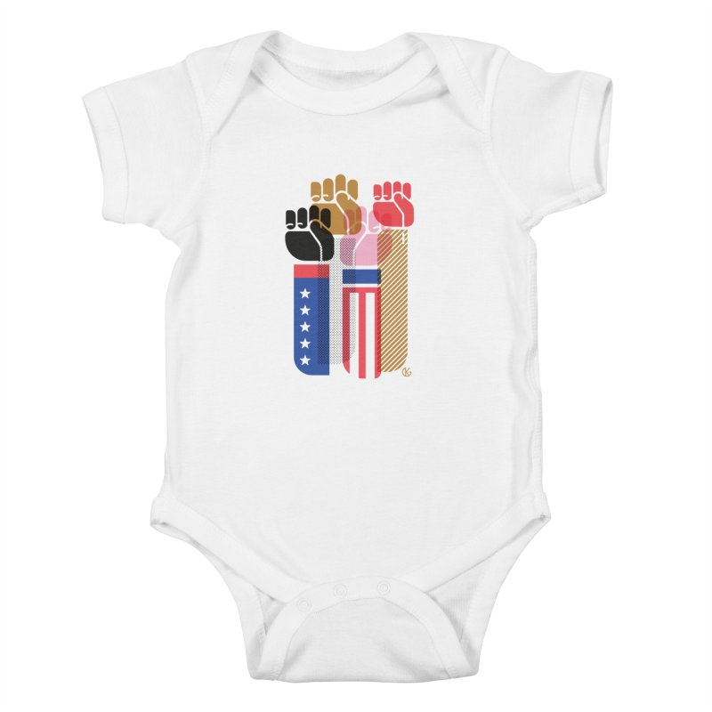 United We Stand Kids Baby Bodysuit by Kevin's Pop Shop