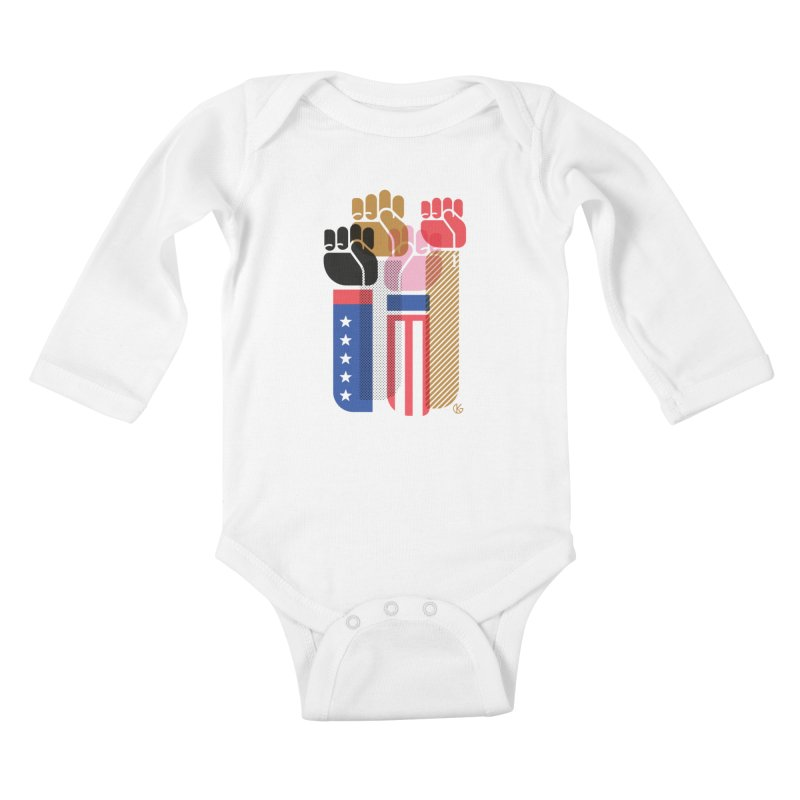 United We Stand Kids Baby Longsleeve Bodysuit by Kevin's Pop Shop