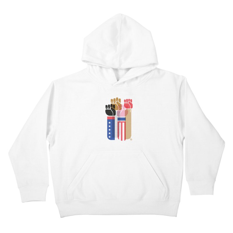 United We Stand Kids Pullover Hoody by Kevin's Pop Shop