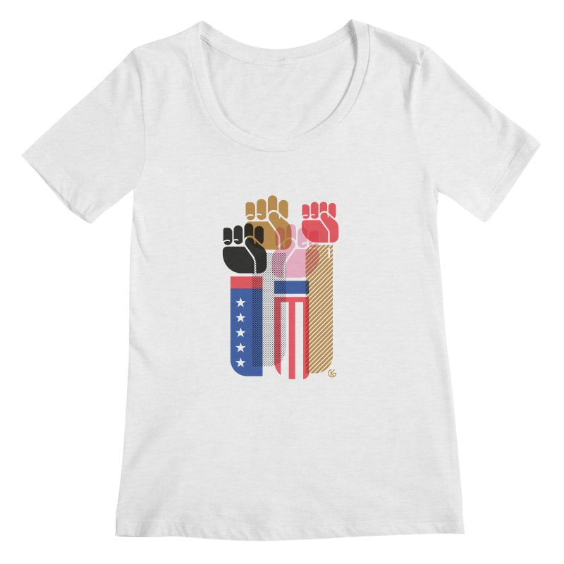 United We Stand Women's Regular Scoop Neck by Kevin's Pop Shop