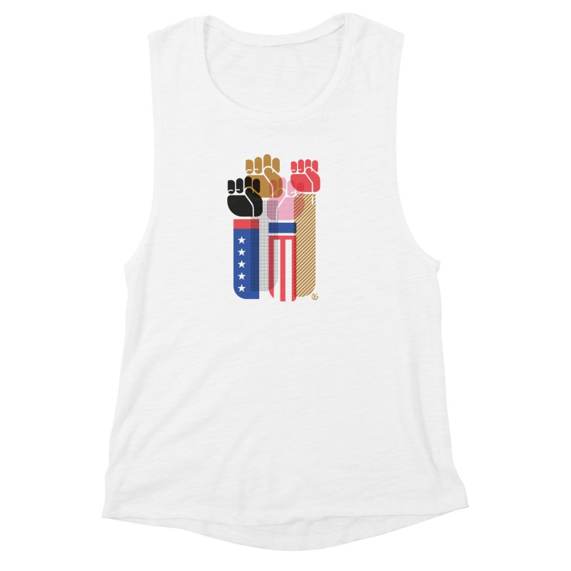 United We Stand Women's Muscle Tank by Kevin's Pop Shop