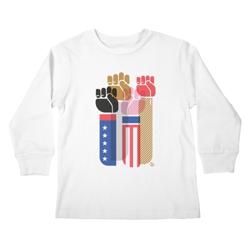 United We Stand Kids Longsleeve T-Shirt by Kevin's Pop Shop