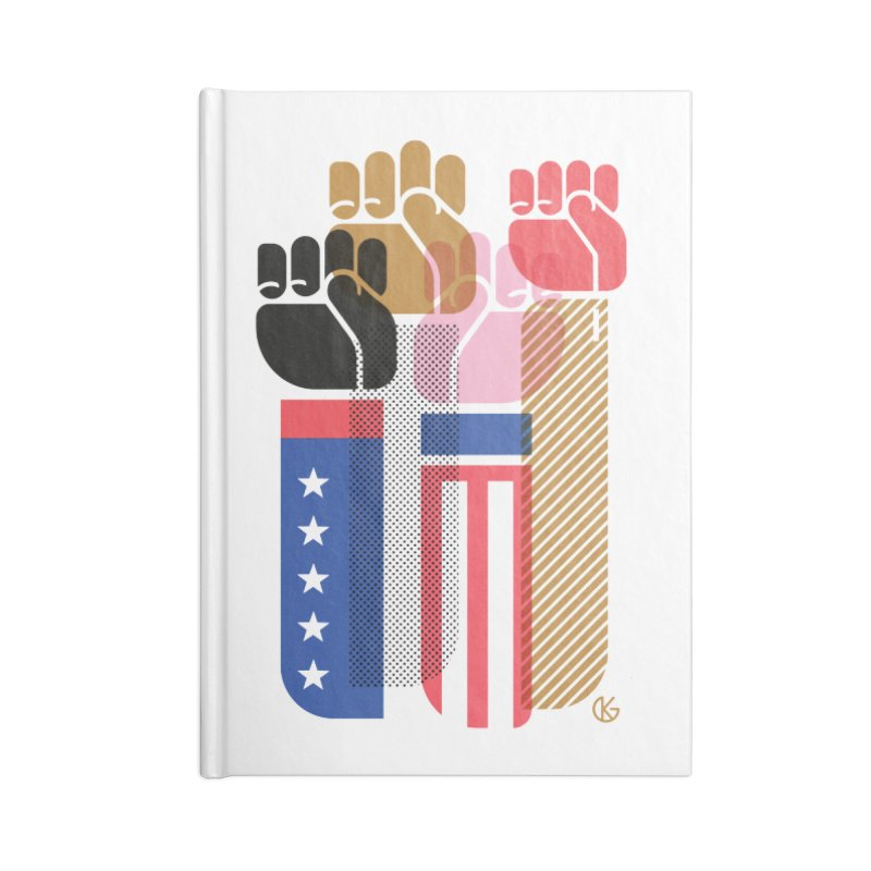 United We Stand Accessories Lined Journal Notebook by Kevin's Pop Shop