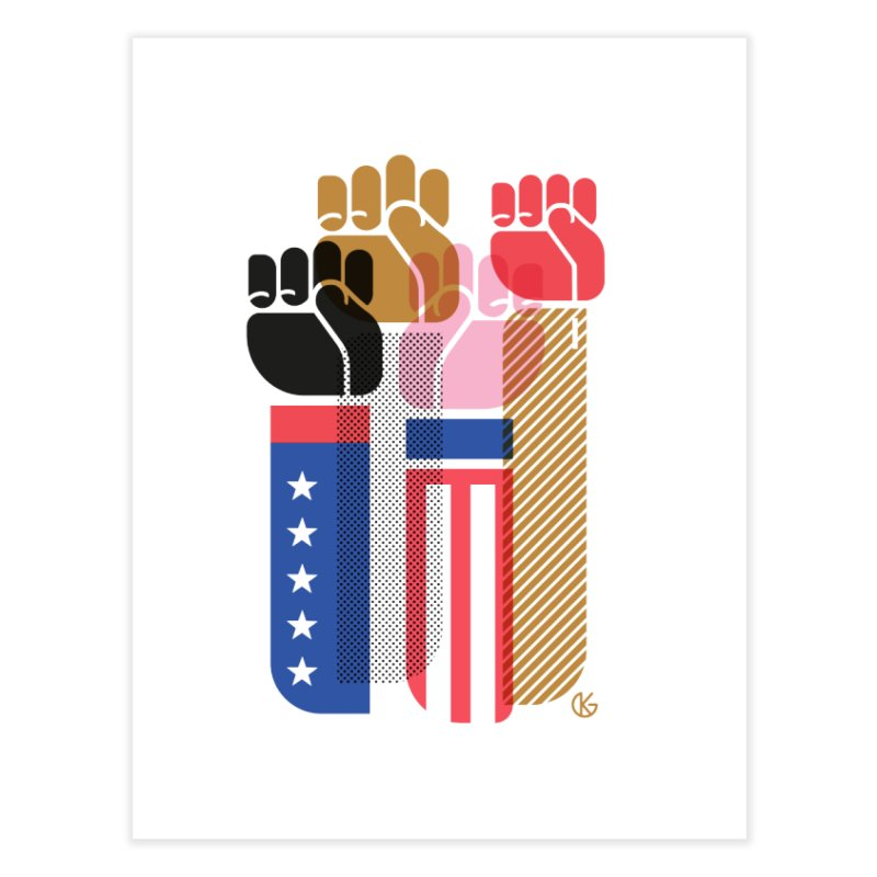 United We Stand Home Fine Art Print by Kevin's Pop Shop