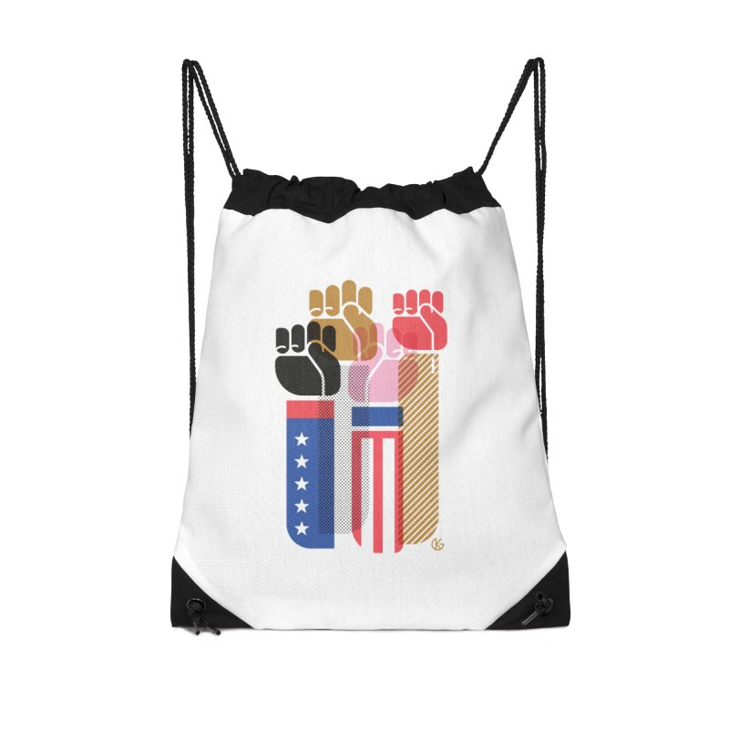 United We Stand Accessories Drawstring Bag Bag by Kevin's Pop Shop