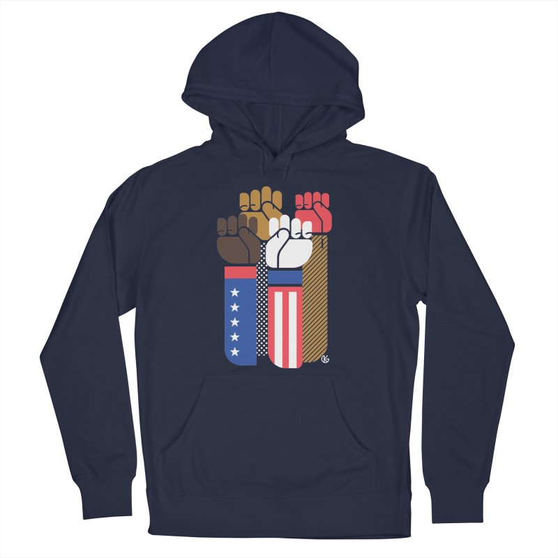 United We Stand Women's French Terry Pullover Hoody by Kevin's Pop Shop
