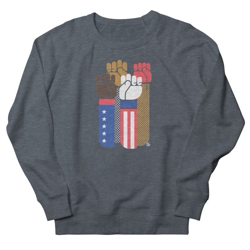 United We Stand Men's French Terry Sweatshirt by Kevin's Pop Shop
