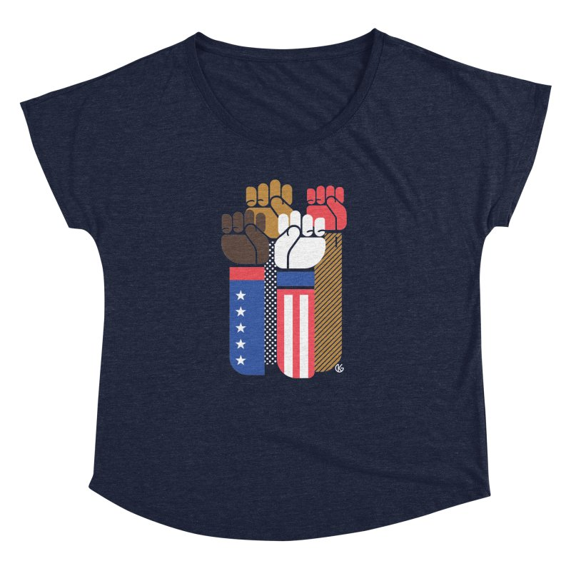 United We Stand Women's Dolman Scoop Neck by Kevin's Pop Shop