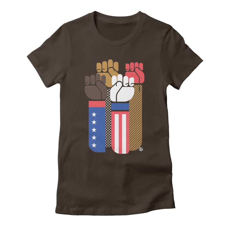 United We Stand Women's Fitted T-Shirt by Kevin's Pop Shop