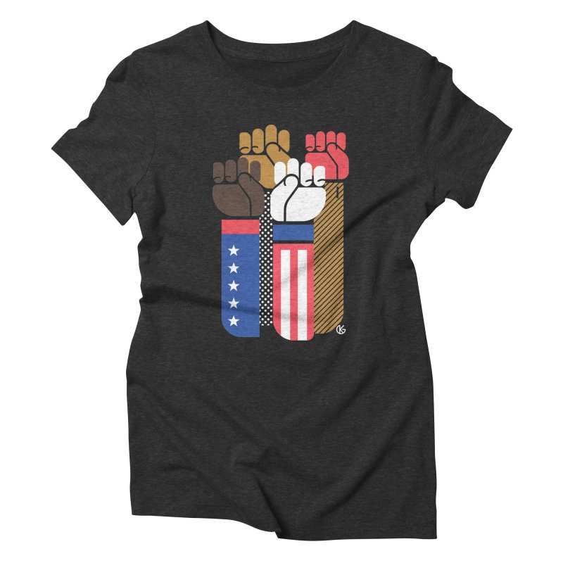United We Stand Women's Triblend T-Shirt by Kevin's Pop Shop