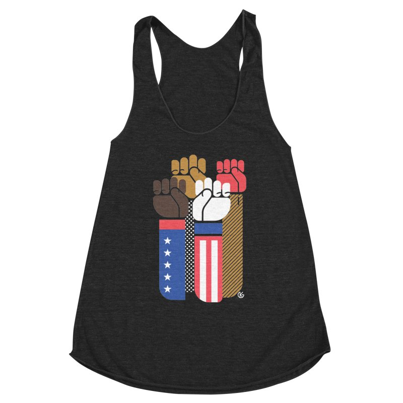 United We Stand Women's Racerback Triblend Tank by Kevin's Pop Shop