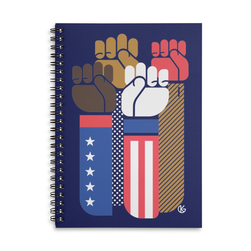United We Stand Accessories Notebook by Kevin's Pop Shop