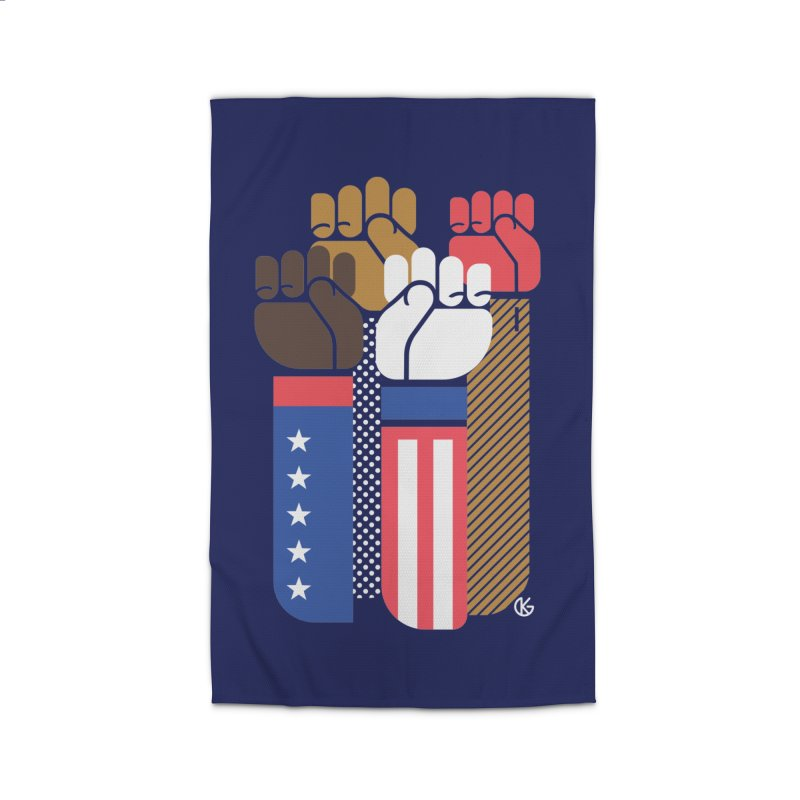 United We Stand Home Rug by Kevin's Pop Shop