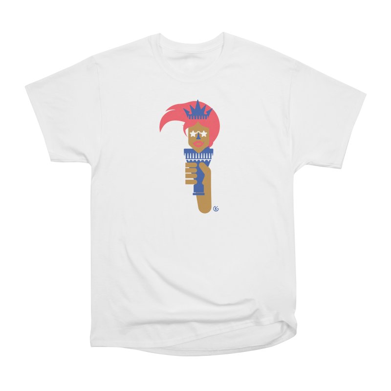 Lady Libery Men's Heavyweight T-Shirt by Kevin's Pop Shop